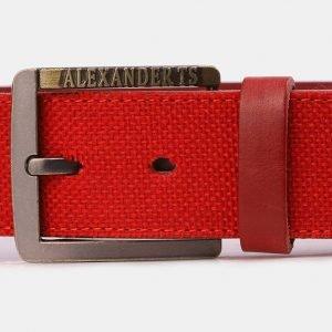 Стильный красный мужской джинсовый ремень ATS-3947 210432