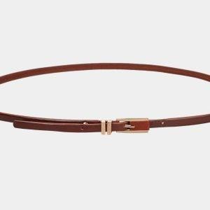 Неповторимый светло-коричневый женский модельный ремень ATS-1223