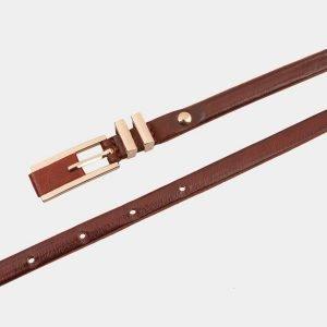 Неповторимый светло-коричневый женский модельный ремень ATS-1223 216966