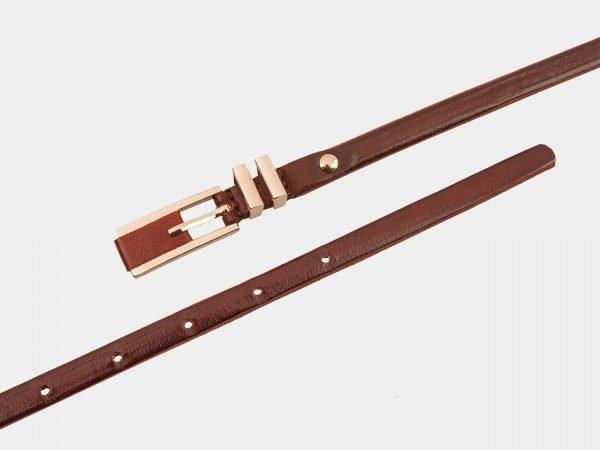 Солидный светло-коричневый женский модельный ремень ATS-1223