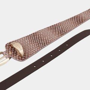 Стильный коричневый женский модельный ремень ATS-1254 216922