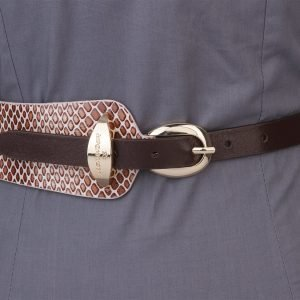 Стильный коричневый женский модельный ремень ATS-1254 216923
