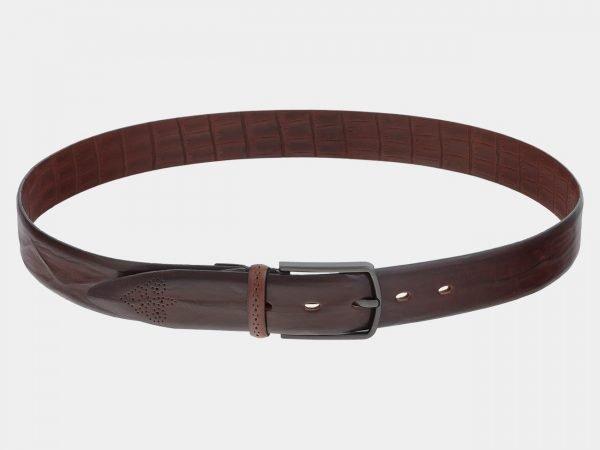 Кожаный коричневый мужской классический ремень ATS-1732
