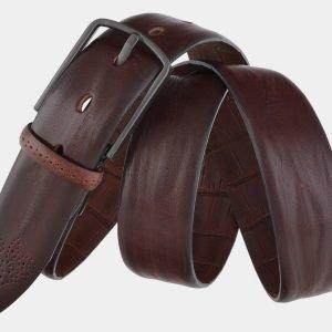 Кожаный коричневый мужской классический ремень ATS-1732 216470