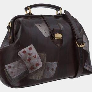 Уникальная коричневая сумка с росписью ATS-1760 216374