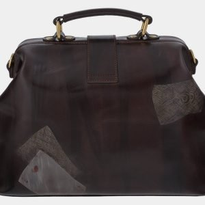 Уникальная коричневая сумка с росписью ATS-1760 216375