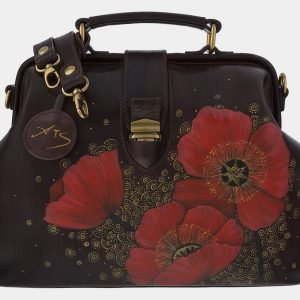 Уникальная коричневая сумка с росписью ATS-1763