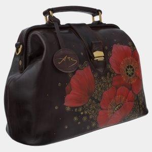 Уникальная коричневая сумка с росписью ATS-1763 216361