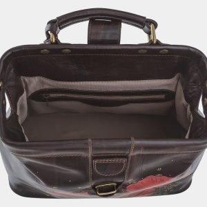 Уникальная коричневая сумка с росписью ATS-1763 216363