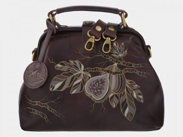 Вместительная коричневая сумка с росписью ATS-1766