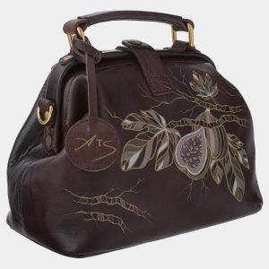Вместительная коричневая сумка с росписью ATS-1766 216356