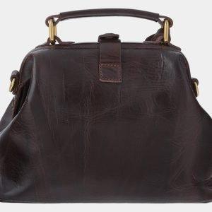 Вместительная коричневая сумка с росписью ATS-1766 216357