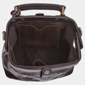 Вместительная коричневая сумка с росписью ATS-1766 216358