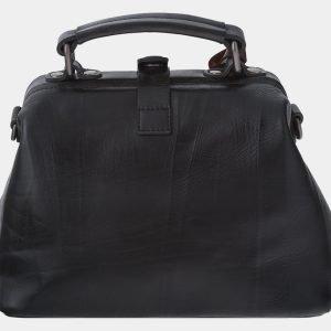 Кожаная черная сумка с росписью ATS-1768 216352