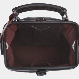 Кожаная черная сумка с росписью ATS-1768 216353