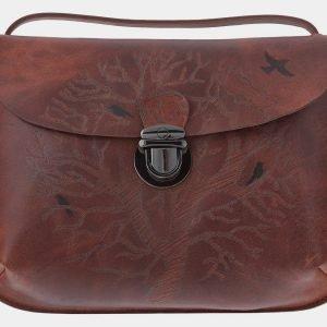 Уникальный коричневый клатч с росписью ATS-1771