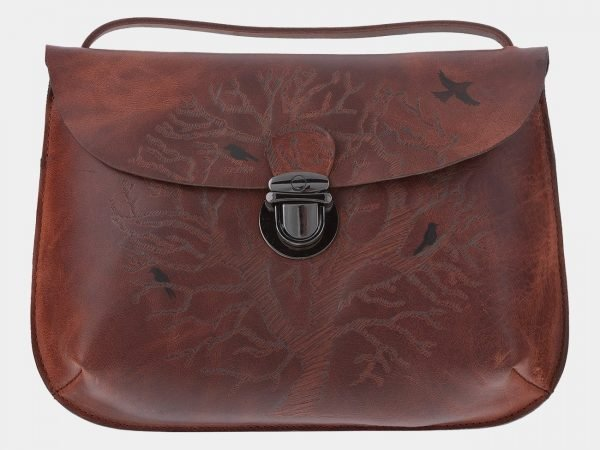 Модный коричневый клатч с росписью ATS-1771