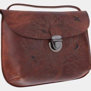 Модный коричневый клатч с росписью ATS-1771 216346