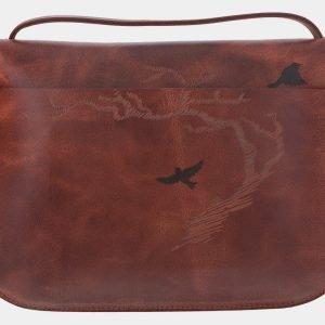 Модный коричневый клатч с росписью ATS-1771 216347