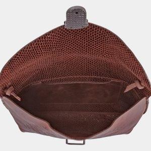Модный коричневый клатч с росписью ATS-1771 216348