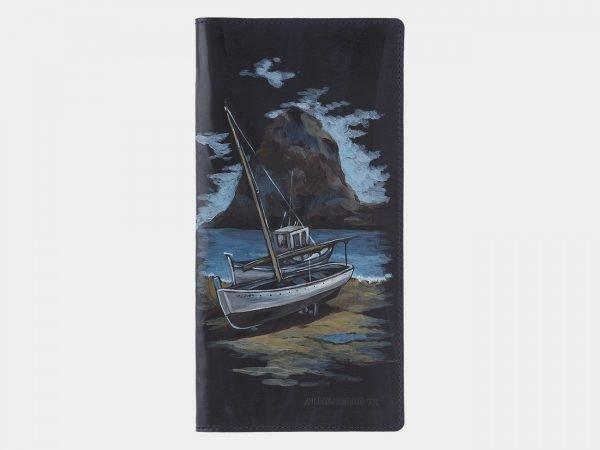 Деловой синий портмоне с росписью ATS-1772