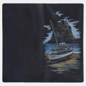 Деловой синий портмоне с росписью ATS-1772 216342