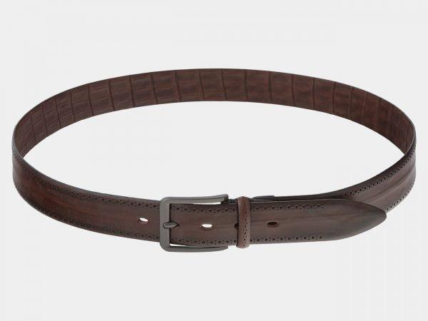 Удобный светло-коричневый мужской классический ремень ATS-1742