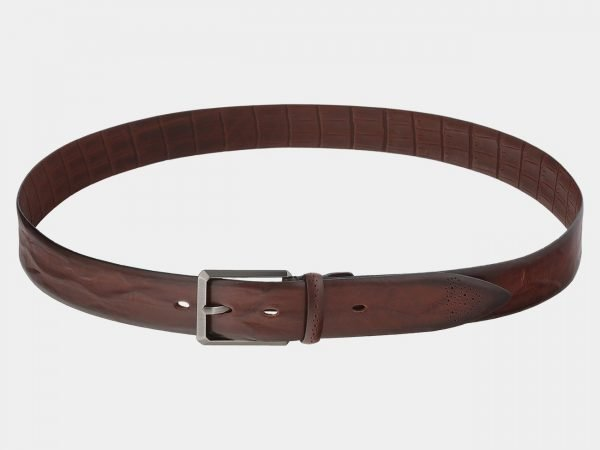 Удобный светло-коричневый мужской классический ремень ATS-1751