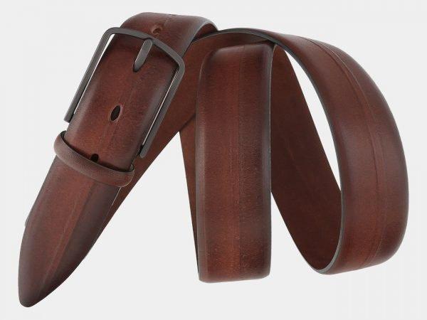 Стильный светло-коричневый мужской классический ремень ATS-1761