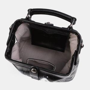 Уникальная черная сумка с росписью ATS-3936 210477