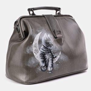 Неповторимая серая сумка с росписью ATS-3932 210490