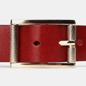 Солидный красный женский джинсовый ремень ATS-3952 210412