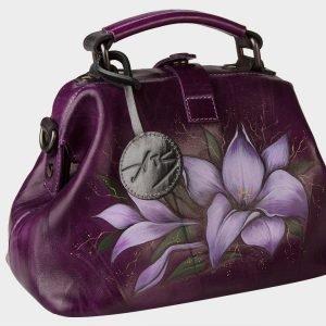 Удобная фиолетовая сумка с росписью ATS-1556 216660