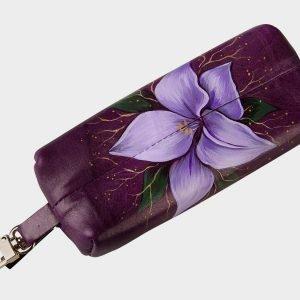 Модный фиолетовый аксессуар с росписью ATS-1557