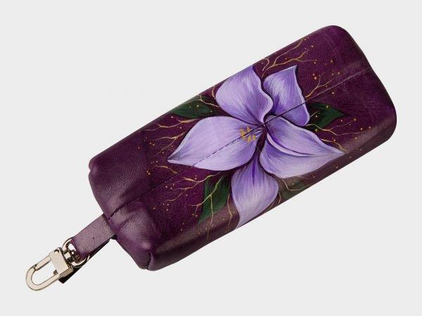 Солидный фиолетовый аксессуар с росписью ATS-1557