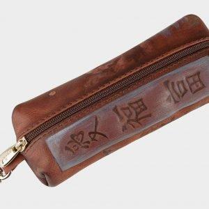 Уникальный коричневый аксессуар с росписью ATS-1547