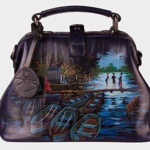 Солидная синяя сумка с росписью ATS-1533