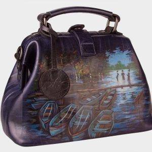 Солидная синяя сумка с росписью ATS-1533 216688