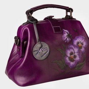 Уникальная фиолетовая сумка с росписью ATS-1532 216691