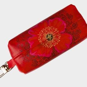 Вместительный красный аксессуар с росписью ATS-1536