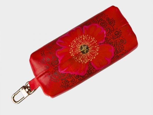 Стильный красный аксессуар с росписью ATS-1536