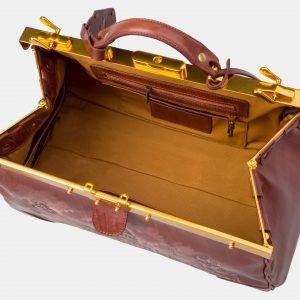 Деловой светло-коричневый саквояж с росписью ATS-3120 213453