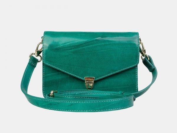 Вместительная зеленая женская сумка на пояс ATS-3156