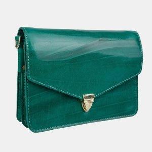 Вместительная зеленая женская сумка на пояс ATS-3156 213391