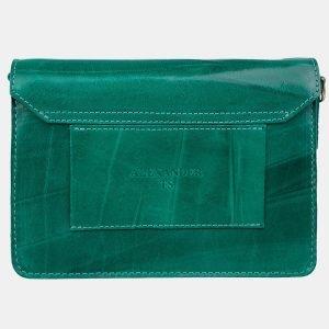 Вместительная зеленая женская сумка на пояс ATS-3156 213392
