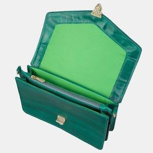 Вместительная зеленая женская сумка на пояс ATS-3156 213393