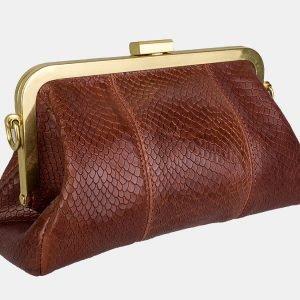 Удобный светло-коричневый женский клатч ATS-3157 213386