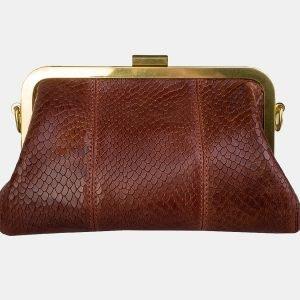 Удобный светло-коричневый женский клатч ATS-3157 213387