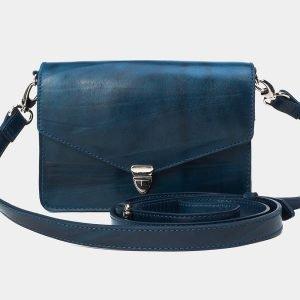 Деловая зеленовато-голубая женская сумка на пояс ATS-3174