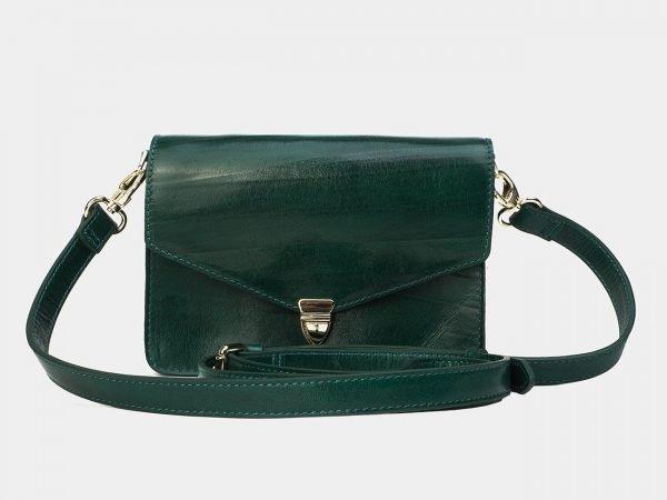 Деловая зеленая женская сумка на пояс ATS-3175